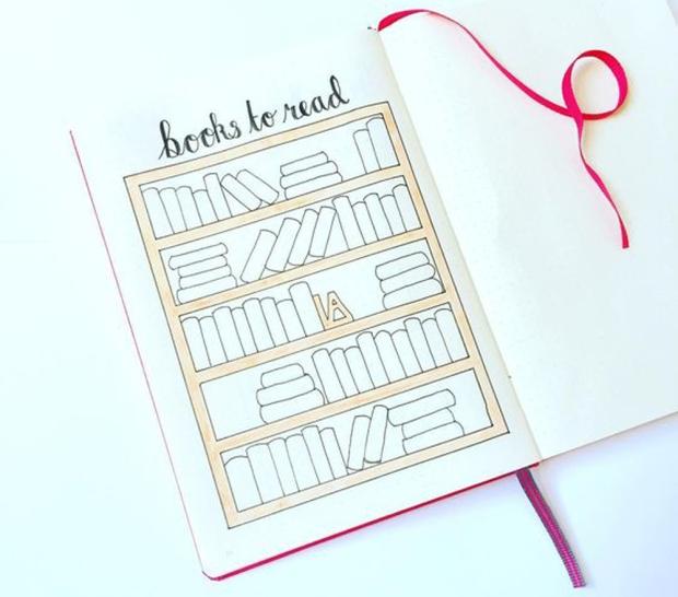 bullet-journal-esprit-livres-a-lire-liste-freelance