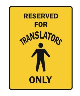 Plaque traducteurs comme idée cadeau